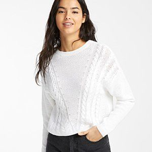 NWT Only Diagonal Cable Cropped Sweater